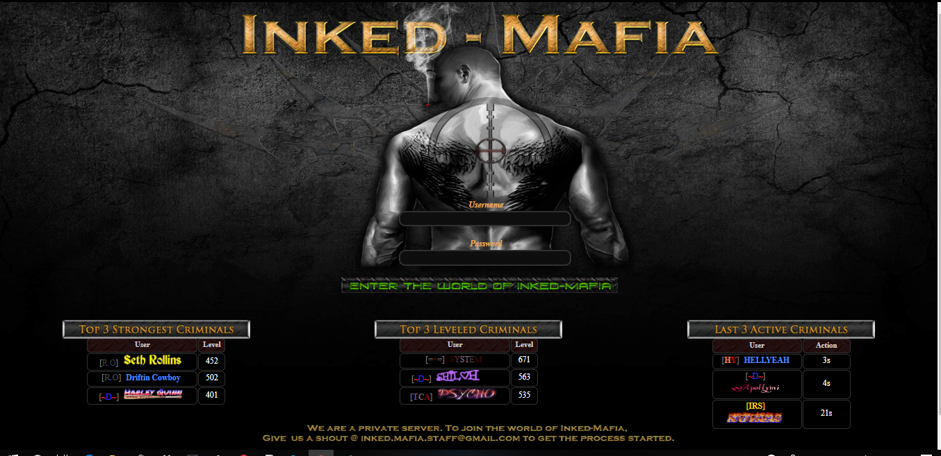 Inked-Mafia at Top Web Games