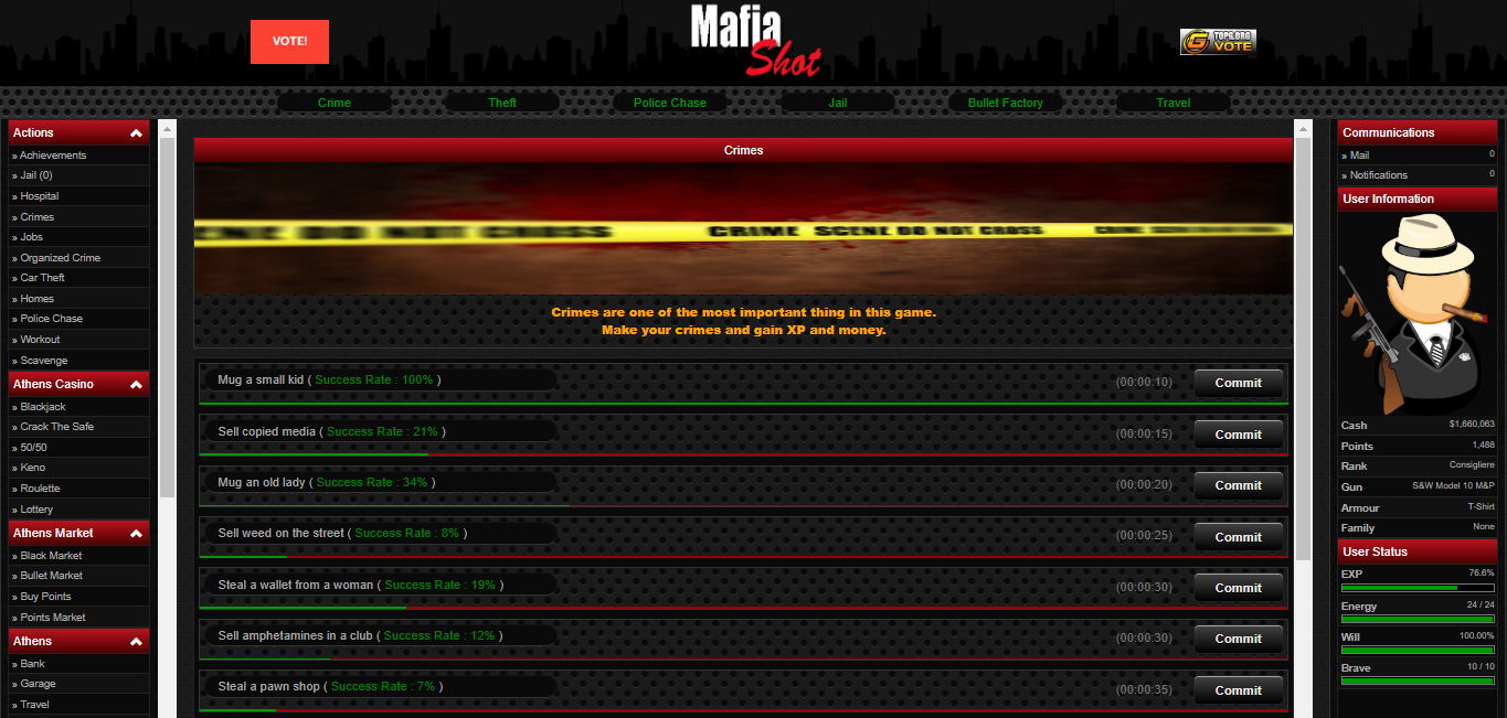 MafiaShot at Top Web Games