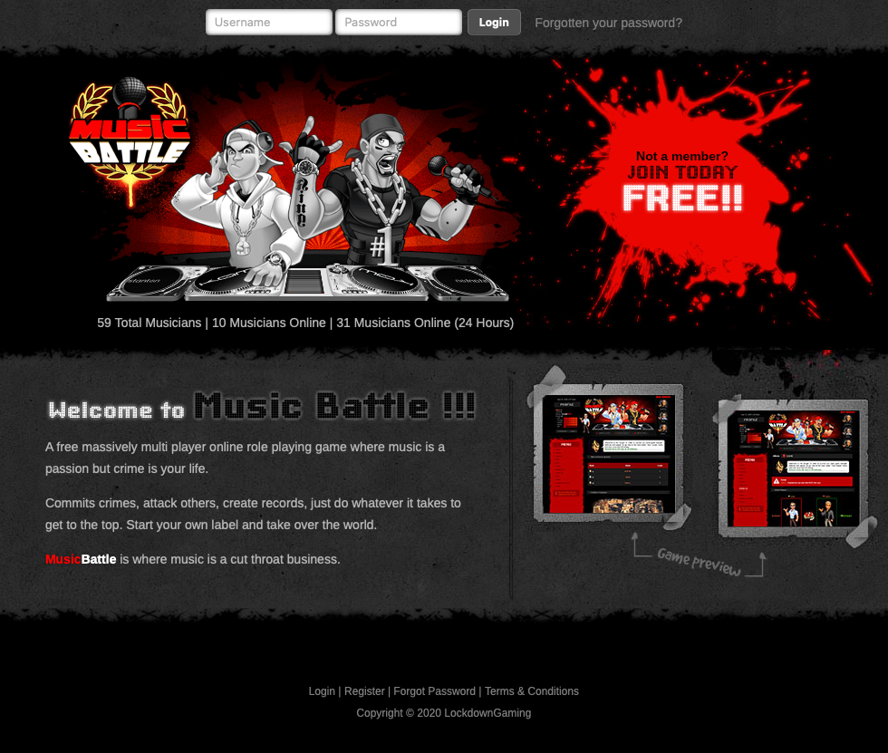 Music Battle at Top Web Games
